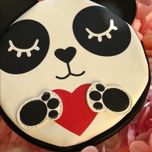 NWT Betsey Johnson Panda Coin Purse